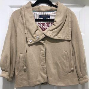 Millard Fillmore tan colored crop jacket